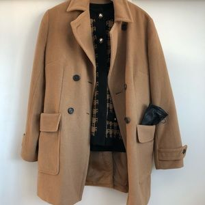 Authentic Daks Double-Breasted 100% Camel Coat